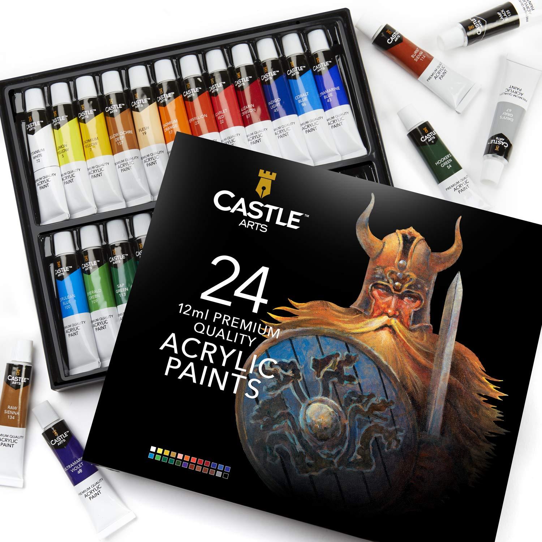 24-częściowy zestaw farb akrylowych dla początkujących, studentów lub artystów