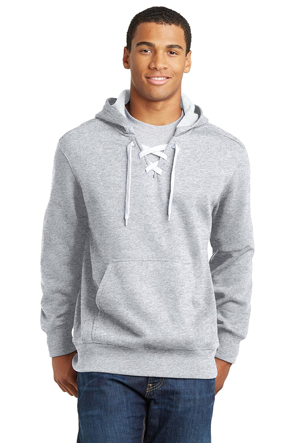 Mens Lace Up Pullover Hooded Sweatshirts in Sizes XS-4XL