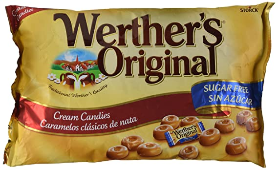 WertherS Original - Caramelos clásicos de nata - Sin azúcar - 1000 g