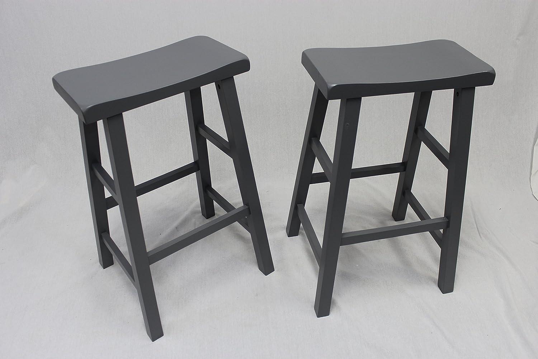 Amazon.com: Set of 2 Heavy Duty Saddle Seat Bar Stools Counter ...