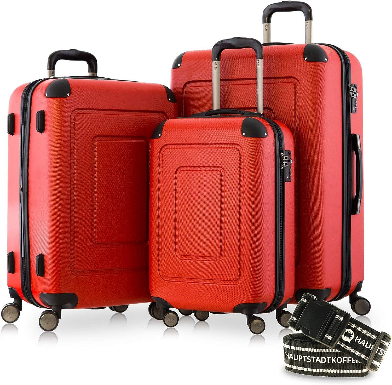 Rot Happytrolley Lugano Juego de maletas 66 centimeters 78 Rojo