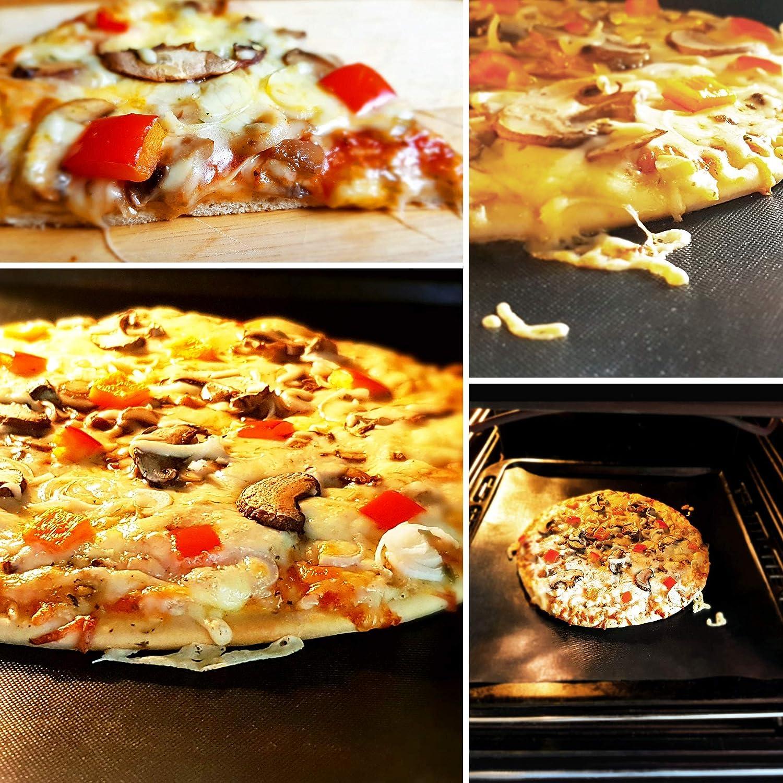 Tappetino Antiaderente per griglia e Forno Tappetini riutilizzabili per Grigliare e cuocere. Spessore Extra 0,3 mm Set da 3 Extra Grande 50 x 40 cm MT P-R-O BBQ