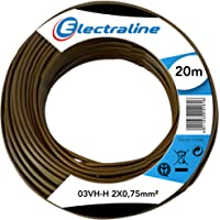 electroline 10714 - Cable 03Vh-H, 2x0.75 mm, 20