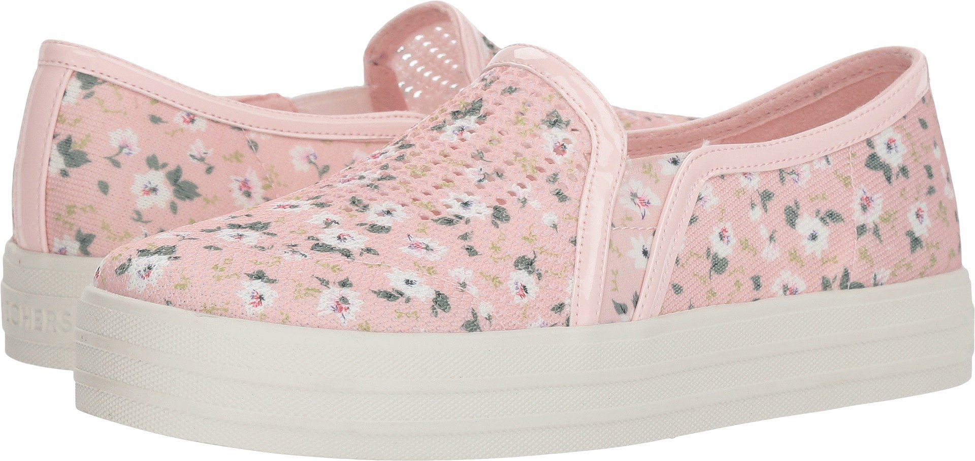 Skechers Double up Ditsy Darling Womens Slip On Sneakers Light Pink 7