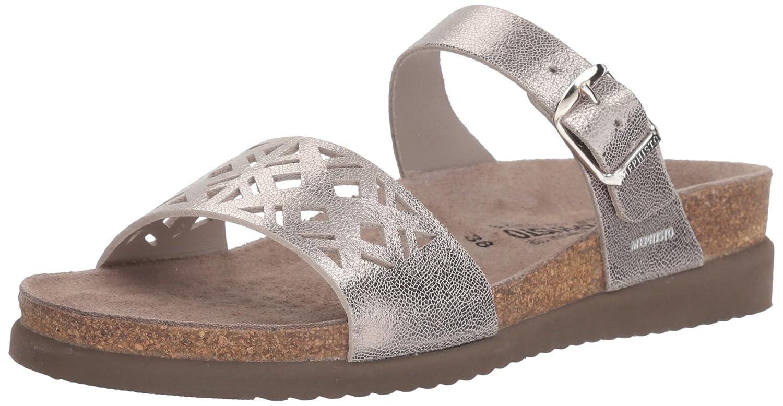 Silver Mephisto Womens Hirena Slide Sandal