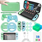 Accessories Bundle compatible with Nintendo Switch, MENEEA 26 in 1 Accessories kit with Carrying Case, Screen Protector, Hand
