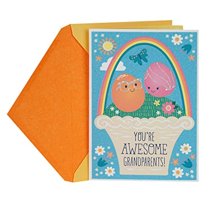 Amazon hallmark easter greeting card for grandparents from hallmark easter greeting card for grandparents from kids smiley face eggs m4hsunfo