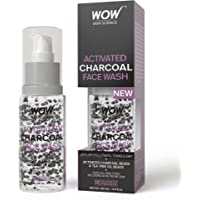 Wow Activated Charcoal Face Wash with Activated Charcoal Beads, 100ml