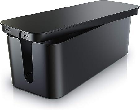 Caja para cables, de plástico Bearware - Organizador para cables -Caja para cables -Caja para esconder cables -Organizador para regletas de enchufes - Caja para cargadores de teléfonos móviles: Amazon.es: Bricolaje y