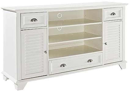 Amazon Crosley Furniture Palmetto 60 inch Full TV Stand White