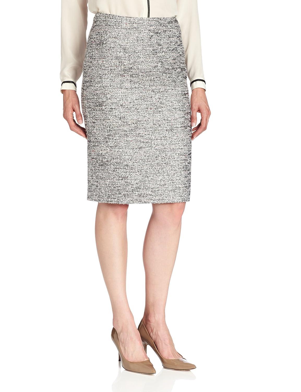 Helene Berman Womens Tweed Pencil Skirt