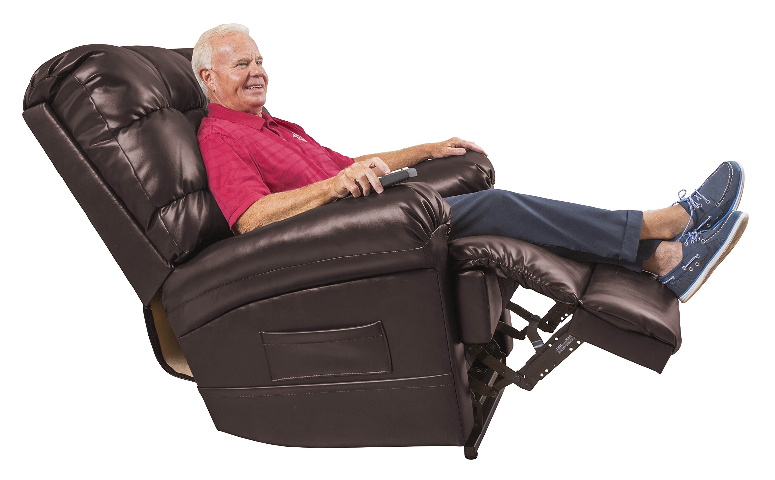 Perfect Sleep Chair Lift Chair & Medical Recliner - Duralux Leather - Chocolate