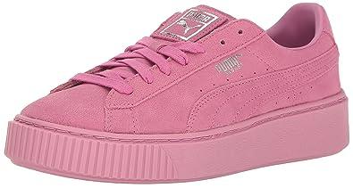 PUMA Women's Basket Platform Reset Wn's Fashion Sneaker, Prism Pink-Prism Pink, 9.5 M US