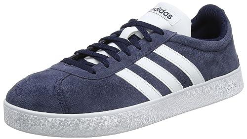 adidas VL Court 2.0, Scarpe da Skateboard Uomo, Nero (Cblack/Ftwwht/Ftwwht Cblack/Ftwwht/Ftwwht), 46 EU