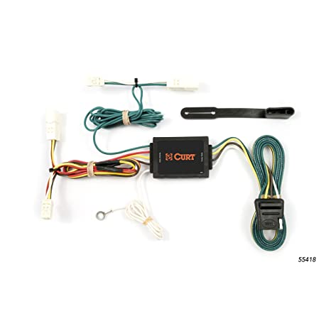 amazon com: curt 55418 vehicle-side custom 4-pin trailer wiring harness for  select toyota sienna: automotive