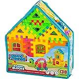 Creative Kids Interlocking Building Block Play Set for Kids w/ 138 Unique, Colorful Bricks & Convenient Carry Backpack - Educational Construction Kit for Preschool, Kindergarten & More