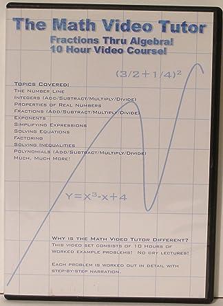 Amazon.com: Math Video Tutor: Fractions Thru Algebra: Jason Gibson ...