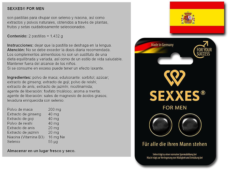 SEXXES for men - para hombres - perfecto con extracto de Ginseng - 6 pastillas para él: Amazon.es: Salud y cuidado personal