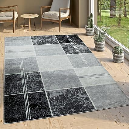 Paco Home Tappeto Di Design Moderno A Quadri Effetto Marmo Mélange ...
