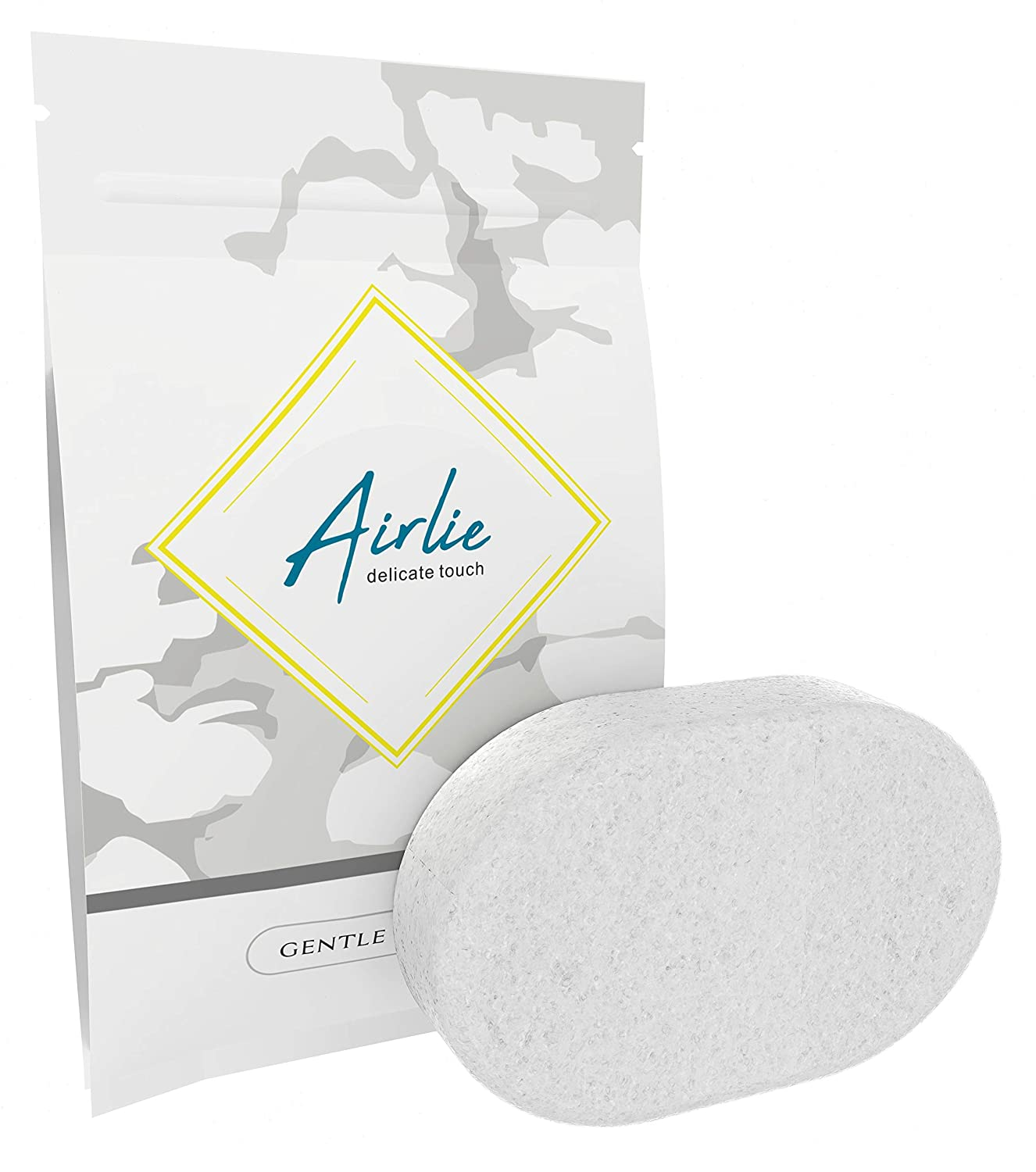 Soft konjac Bath or Shower Sponge for Toddler Baby or for Bathing a Newborn Natural Vegetable Fiber Airlie Gentle Sponge Free from irritants and additives.