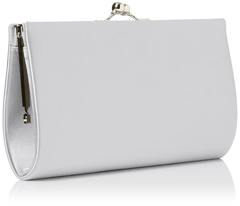 5.1x12x20.8 cm Swanky Swans Damen Mira Satin Classic Frame Bag Clutch