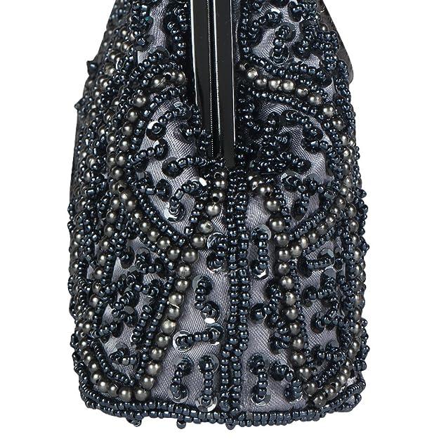 Bagood Damen Vintage Style Perlenpailletten Abendtasche
