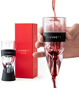 Wine Aerator by Invinety   All in one Diffuser, Decanter and Oxygenator   Enhance Wine Flavors with a Smoother Finish   Premium Aerating Decanter