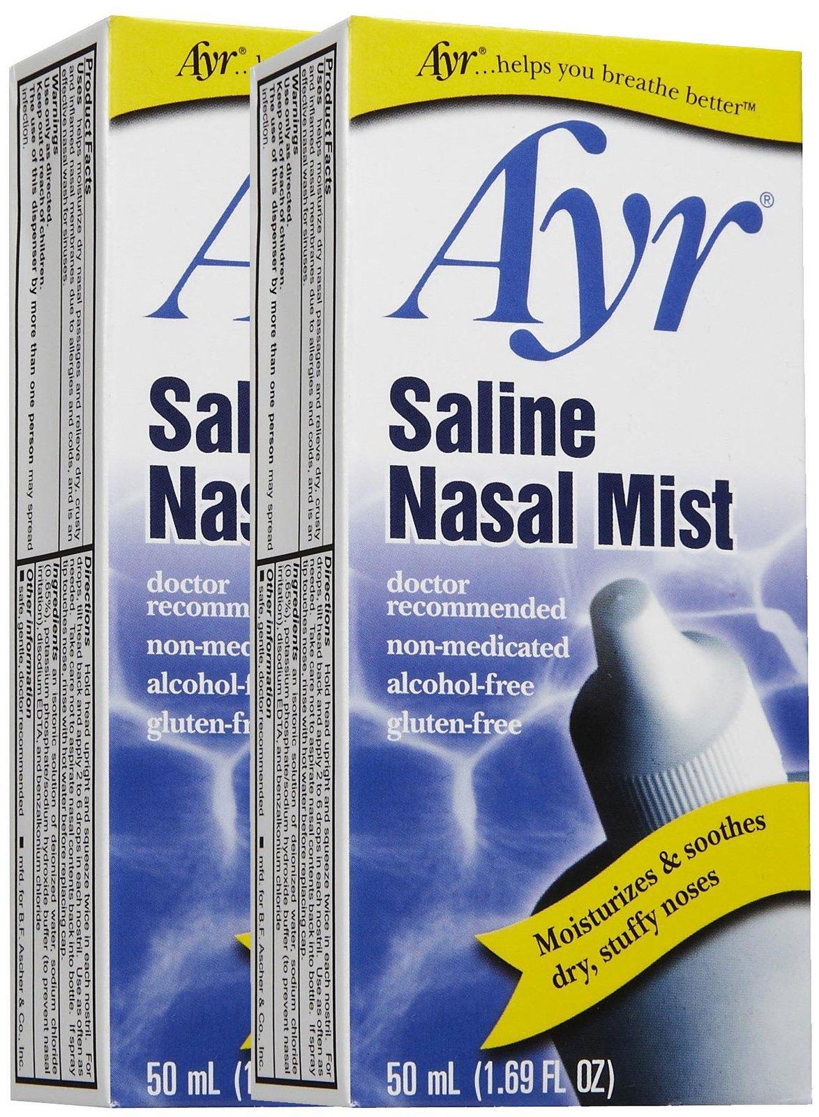 Ayr Saline Nasal Mist, 2 pk by Ayr
