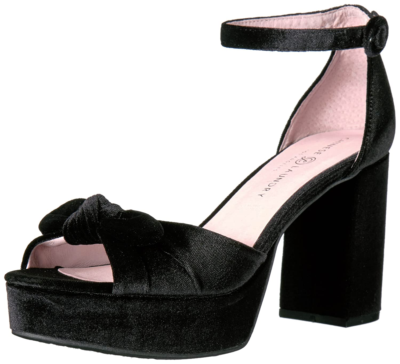 Chinese Laundry Women's Tina Platform Dress Sandal B01M6X4YQ1 6.5 B(M) US|Black Velvet