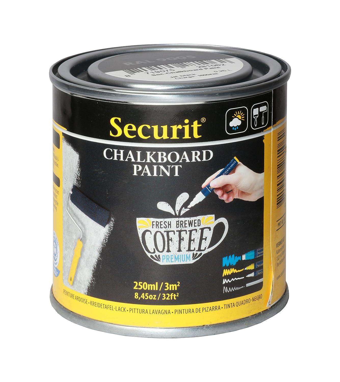 Securit–250ml Acqua Acrilico Pittura lavagna per vetro/metallo/ceramica/plastica/legno Vermes B.V. PNT-BL-SM