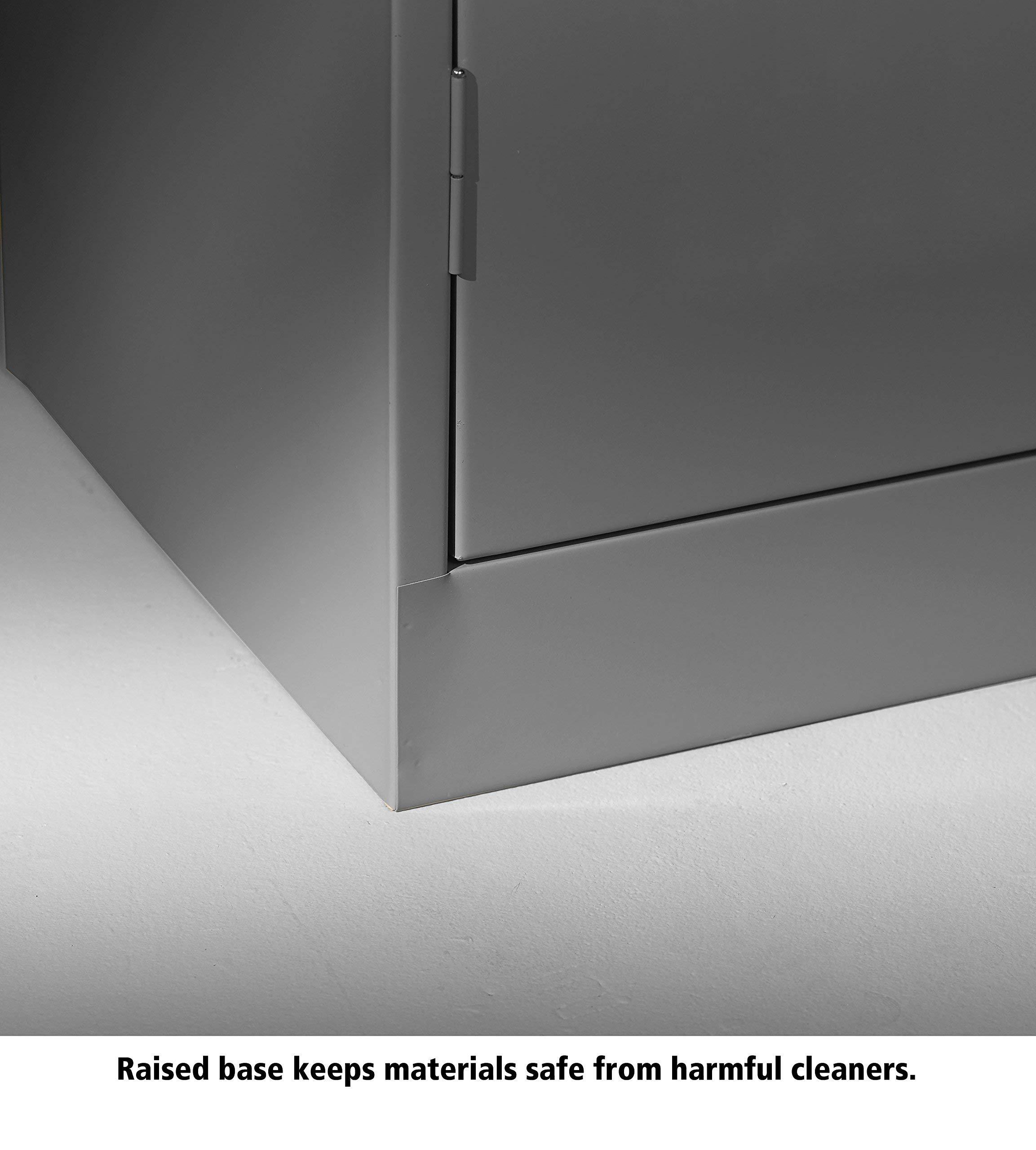 Tennsco 4218 24 Gauge Steel Standard Welded Counter High Cabinet, 2 Shelves, 150 lbs Capacity per Shelf, 36'' Width x 42'' Height x 18'' Depth, Black (Renewed) by Tennsco (Image #3)