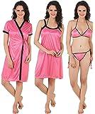 Fasense Women's Satin Nightwear - Set of 4