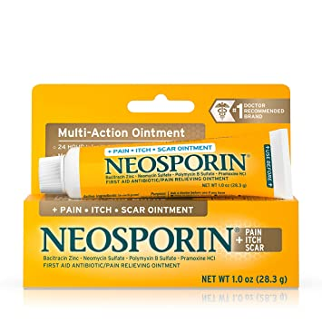 Neosporin Pain Itch Scar Antibiotic Ointment for Infection Prevention and  Pain Relief, 1 0 oz