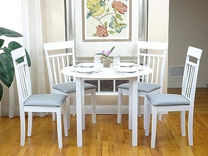 Amazon.com - Rattan Wicker Furniture 5 Pc Dining Kitchen Set ...