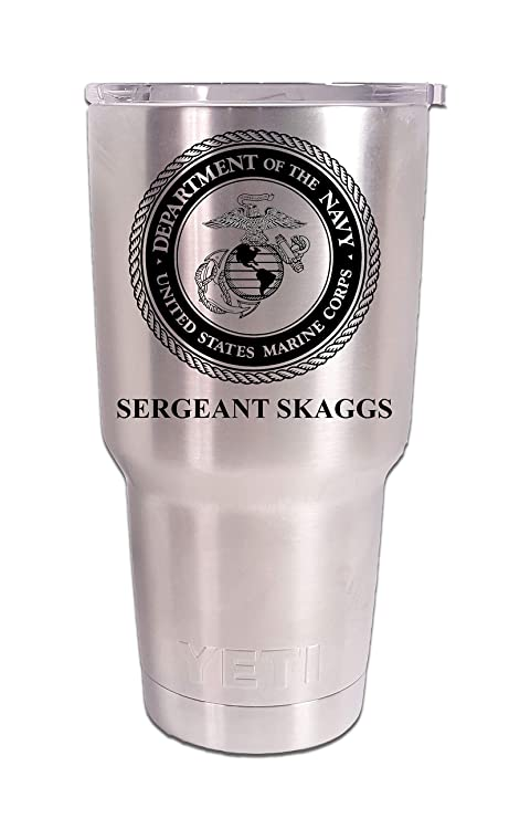c090ce3cd4c Image Unavailable. Image not available for. Color: US Marine Corps Tumbler, USMC  Personalized ...