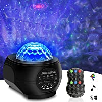 Galaxy Projector Night Light, Tenei 2 in 1 Ocean Wave Night Light Projector with Remote Control, Galaxy Projector with…