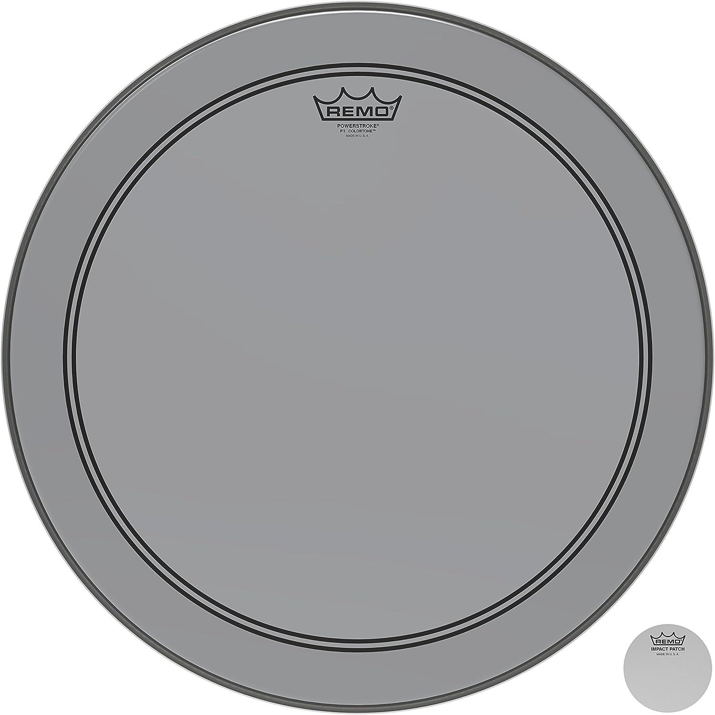 Remo Powerstroke P3 Colortone Smoke Bass Drumhead 18
