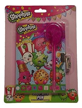 Shopkins - Agenda para niñas con bolígrafo y cerradura ...