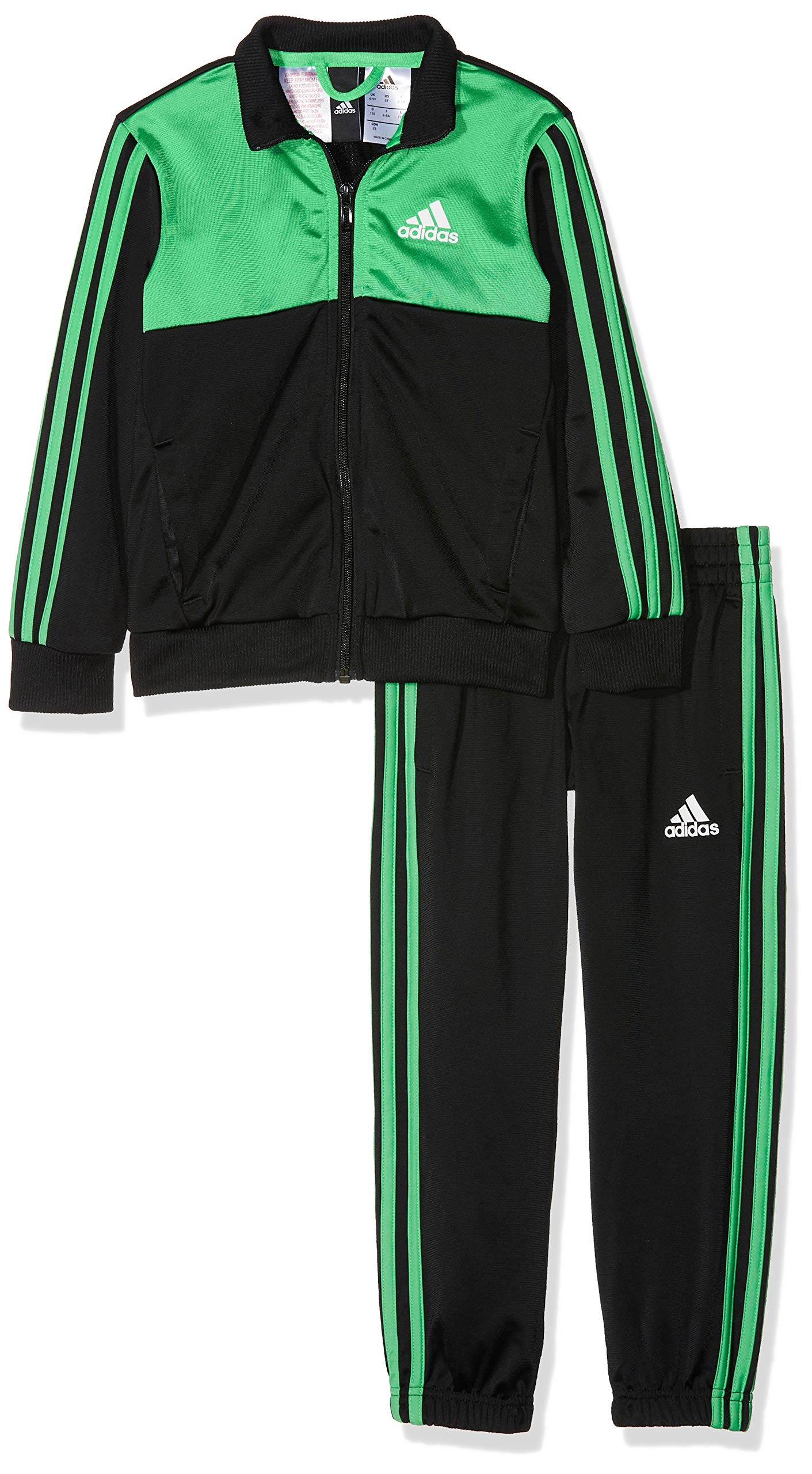 adidas Tibero Tracksuit - Boys - Black/Green - Age 11-12