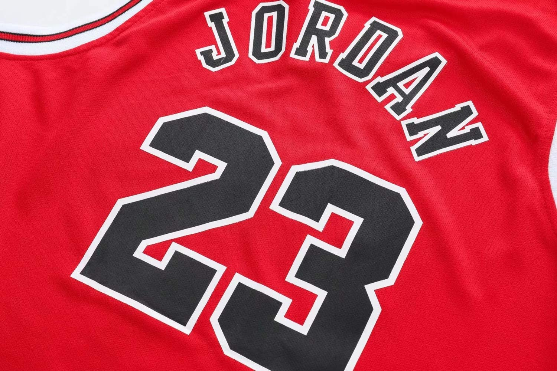 Angel ZYJ Uomo NBA Michael Jordan # 23 Chicago Bulls Retro Pantaloncini da Basket Summer Jerseys Basket Maglie Uniforme Top e Shorts