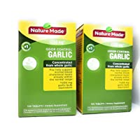 Nature Made Odor Control Garlic, 1250mg -- 2 Boxes each of 100 Tablets