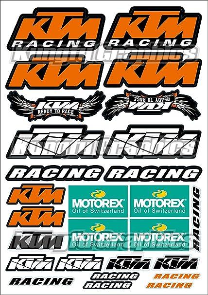 Ktm sponsor logo motocross supercross mx motorsports racing race bike decal sticker pack all