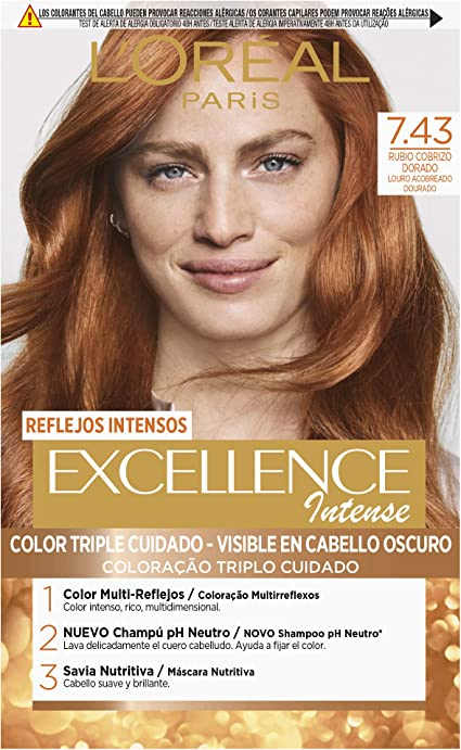 Oferta amazon: L'Oréal Paris Excellence Intense Coloración Tono: 7,43 Rubio Cobrizo Dorado