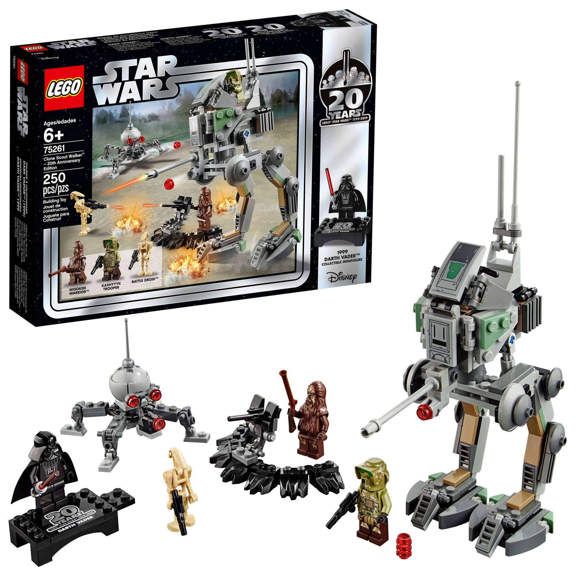LEGO Star Wars Clone Scout Walker - 20th Anniversary Edition 75261 Building Kit, New 2019 (250 Pieces) by LEGO