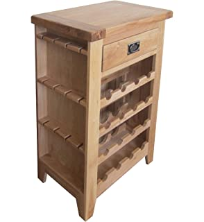 balmoral natural oak rustic farmhouse wine cabinet rack with drawer and wine glass holder baumhaus wine rack lamp table