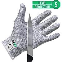 Paire de gants anti coupures Twinzee® - Protection de niveau 5 conforme à la norme EN 388 - Tout simplement la meilleure protection qui existe contre les coupures du quotidien (cuisine, jardinage, bricolage)