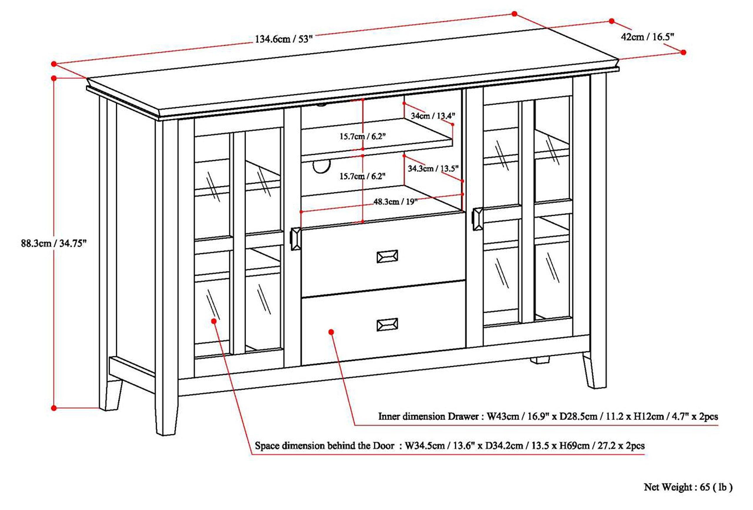 Simpli Home Artisan TV Media Stand for TVs up to 60'', Medium Auburn Brown by Simpli Home (Image #6)
