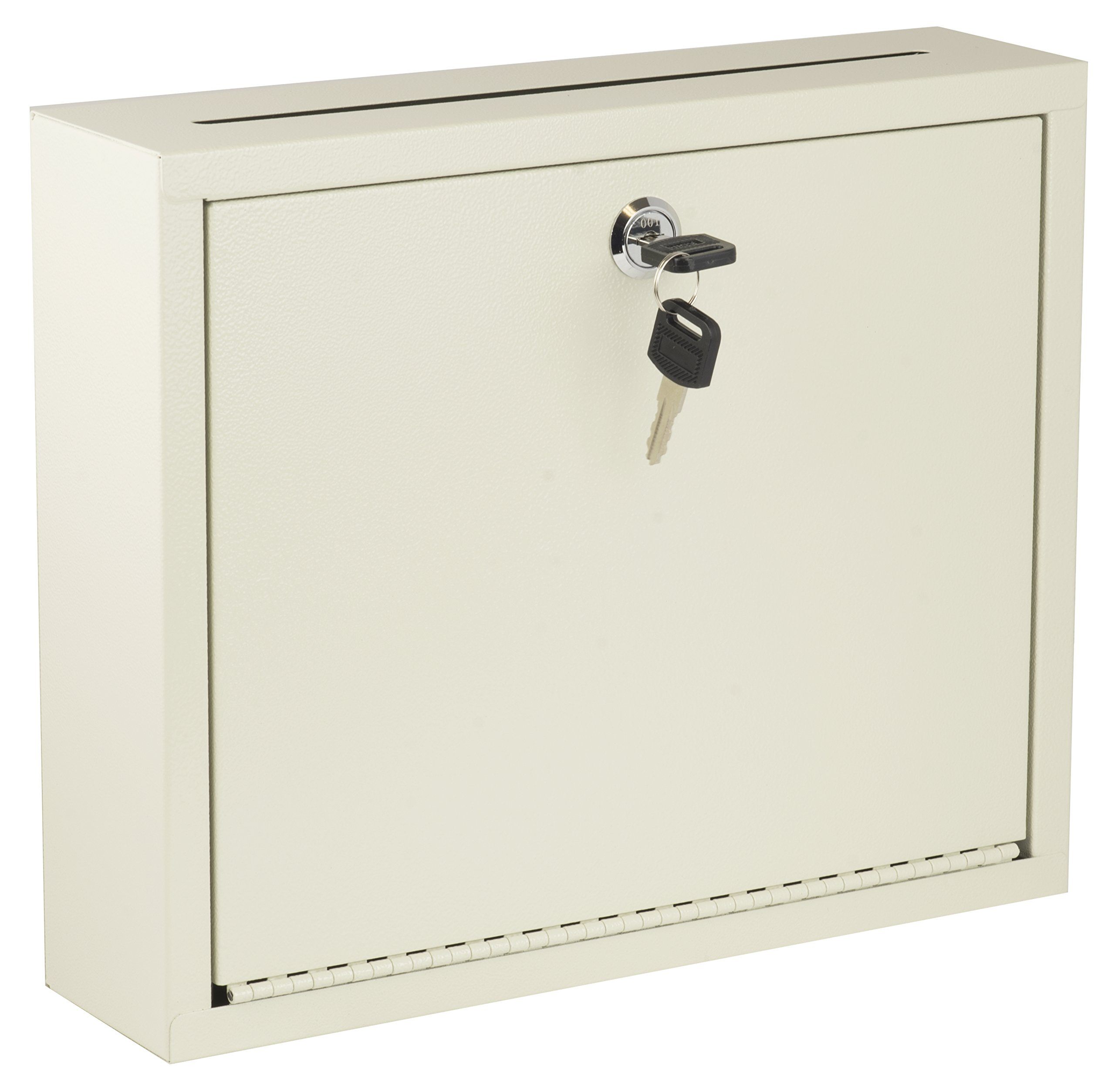 AdirOffice Multi Purpose, Mail Box, Drop Box, Suggestion Box, Wall Mountable, 3'' x 10'' x 12'' - Sand Beige by Adir Corp. (Image #1)