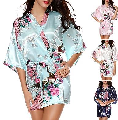 8fd6b9f5e34 Bikifree adult-exotic-sleepwear-and-robe-sets Women s Kimono Robe Peacock
