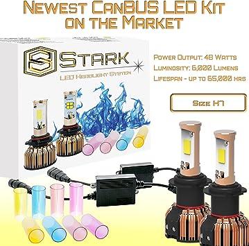 6000LM New Gen CanBUS LED Headlight Kit D Color Swap 3K 6K 8K Pink Purple